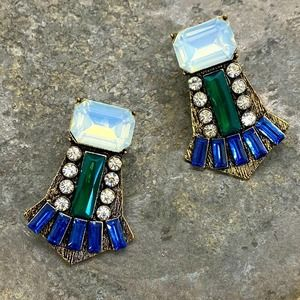 NEW Great Gastby Rhinestone Earrings